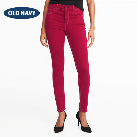 Old Navy Stylish Slim Fit Denim For Ladies-Carmine-NA5570