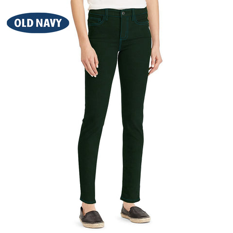 Old Navy Stylish Slim Fit Denim For Ladies-Dark Green-NA5989