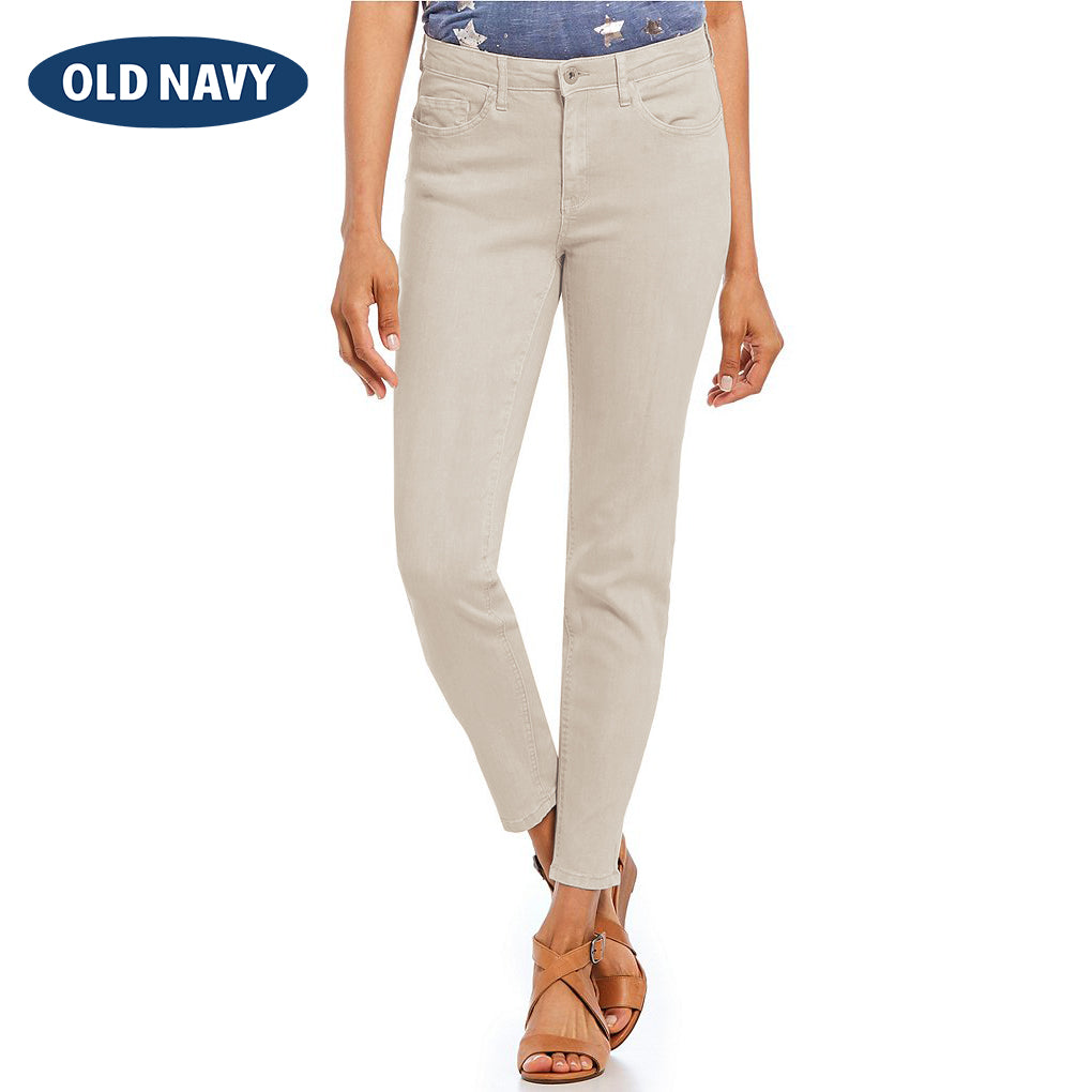 brandsego - Old Navy Stylish Slim Fit Denim For Ladies-Light Grey-NA5990