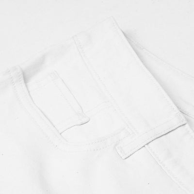 Old Navy Stylish Slim Fit Grinded Style Denim For Ladies-White-NA7675