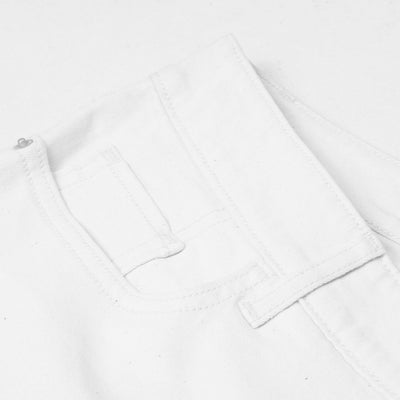 Old Navy Stylish Slim Fit Grinded Style Denim For Ladies-White-NA7658