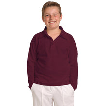DMB Full Sleeve Polo Shirt For Boys-Light Maroon-BE2384