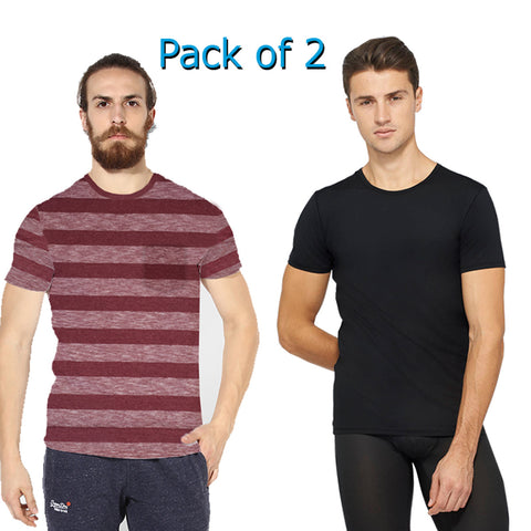 Pack Of 2 Next Crew Neck T Shirt For Men-AT57