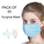 Pack Of 50 Mouth and Nose Cover Surgical Mask-Blue-NA11047