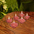 Pack Of 6 Flower Shape Table Candles-Light Red-AN1002