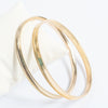 Pack Of 2 Metal Golden Bangle-NA9211