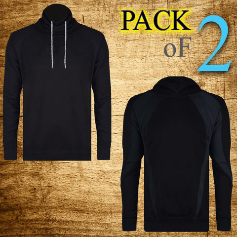 Pack Of 2 Shawn Collor & Pull Over Hoodies For Men-AT10