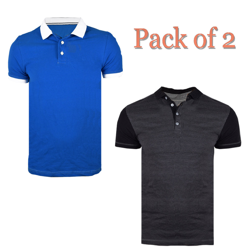 Pack Of 2 Polo Shirts For Men-AT62