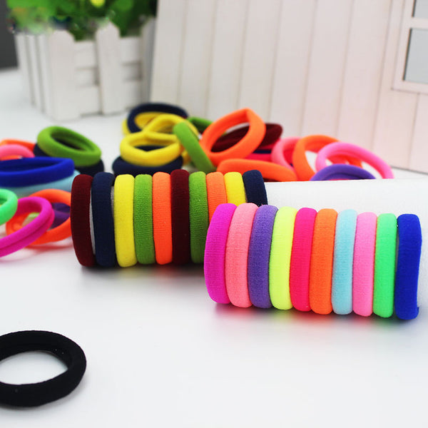Pack Of 7 Elastic Hair Band Poni-Multi Color-NA1426