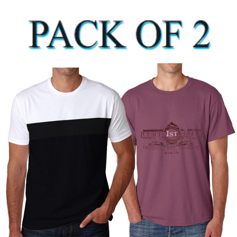 Pack Of 2 Henley Shirt For Mens-AT36