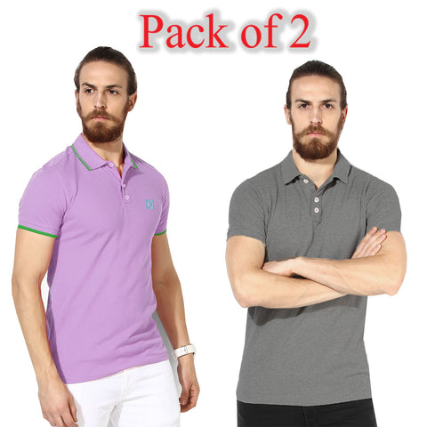 Pack Of 2 Polo Shirts For Men-AT46