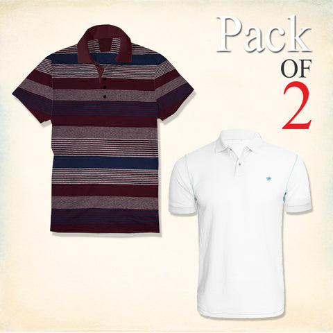 Pack Of 2 Polo Shirts For Men-AT50