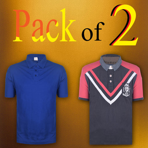 Pack Of 2 Polo Shirts For Men -AT13