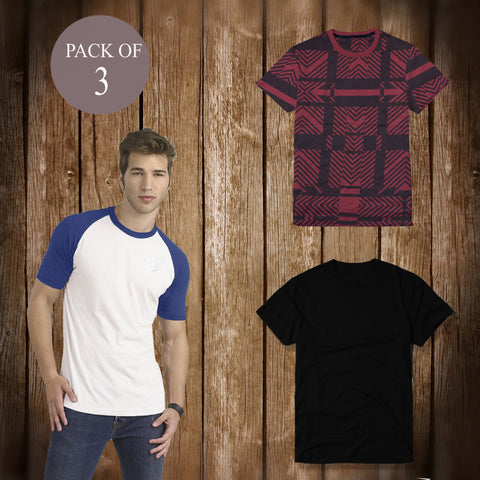Pack Of 3 T Shirt For Men-AT51