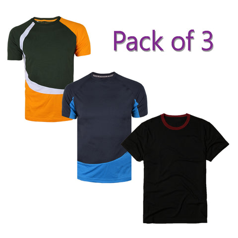 Pack of 3 Kukri T Shirts For Men-AT67