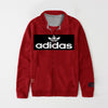 Adidas Fleece Full Zipper Mock Neck Jacket For Men-Red-NA10565