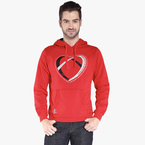 "B Quality Mens Cut Label ""Kukri Sports"" Pullover Hoodie Fleece-Red-CLH05"