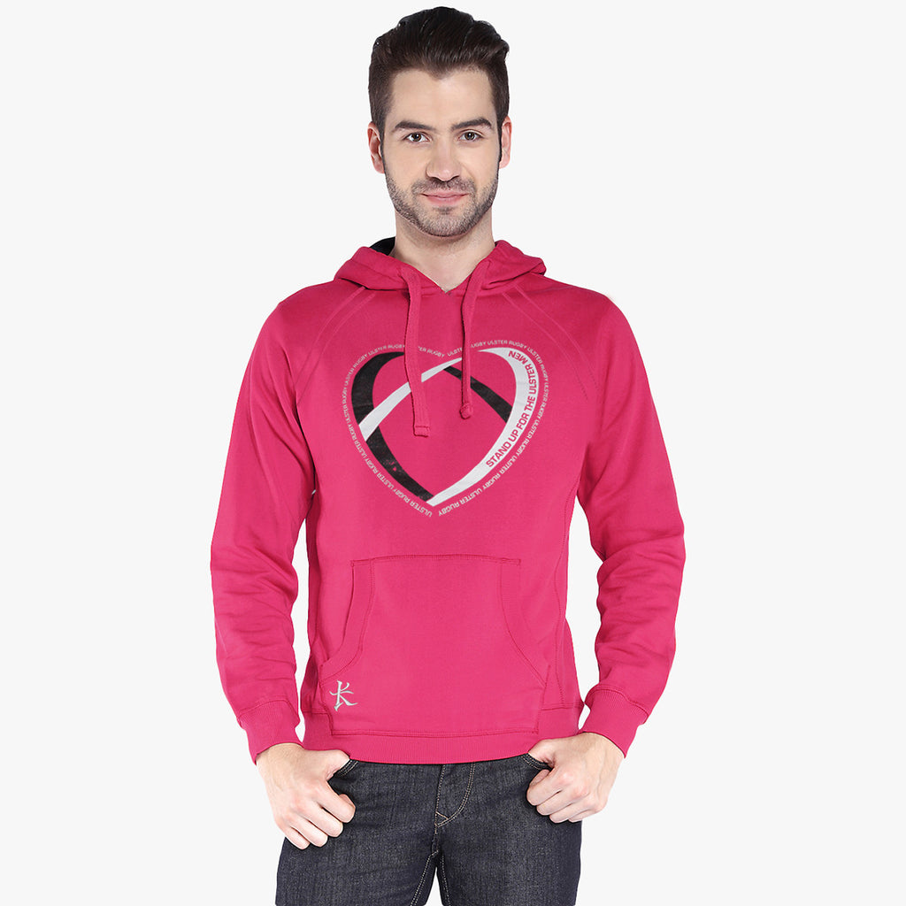 "Mens Cut Label ""Kukri Sports"" Pullover Hoodie Fleece -Pink-CLH24"