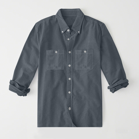 Payper Wear Button Down Casual Shirt For Men-Dark Slate Gray-NA1315
