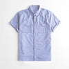 Payper Wear Half Sleeve Button Down Casual Shirt For Men-Light Purple Melange-NA7085