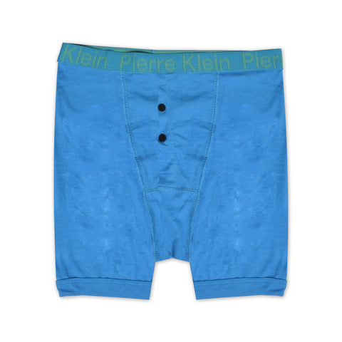 Pierre Klein Rib Boxer Shorts For Men-Blue-NA1100