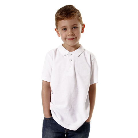 DMB Polo Shirt For Boys-White-BE777