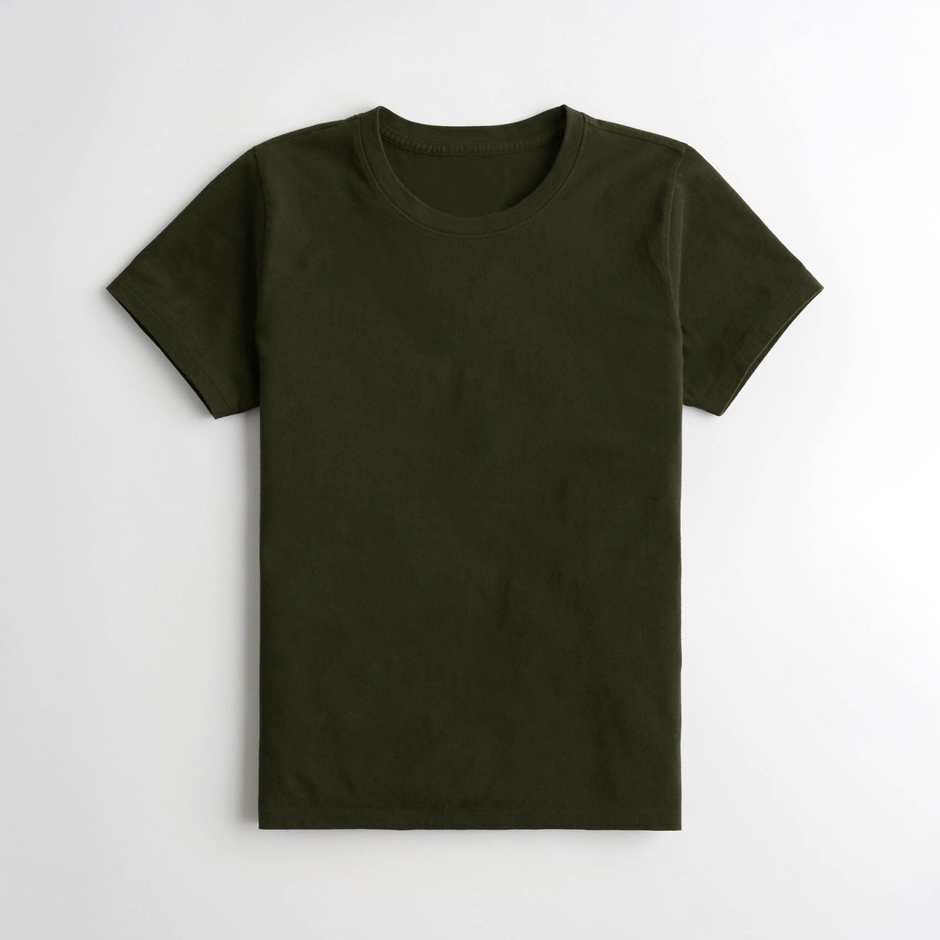 Popular Sports Half Sleeve Crew Neck Tee Shirt For Women-Green-NA10997