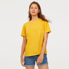 brandsego - Popular Sports Half Sleeve Crew Neck Tee Shirt For Women-Yellow-NA9615