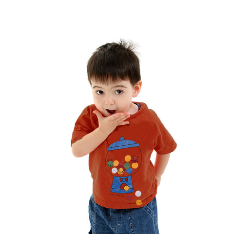 Fassion Crew Neck T Shirt For Kids -Monza-BE812