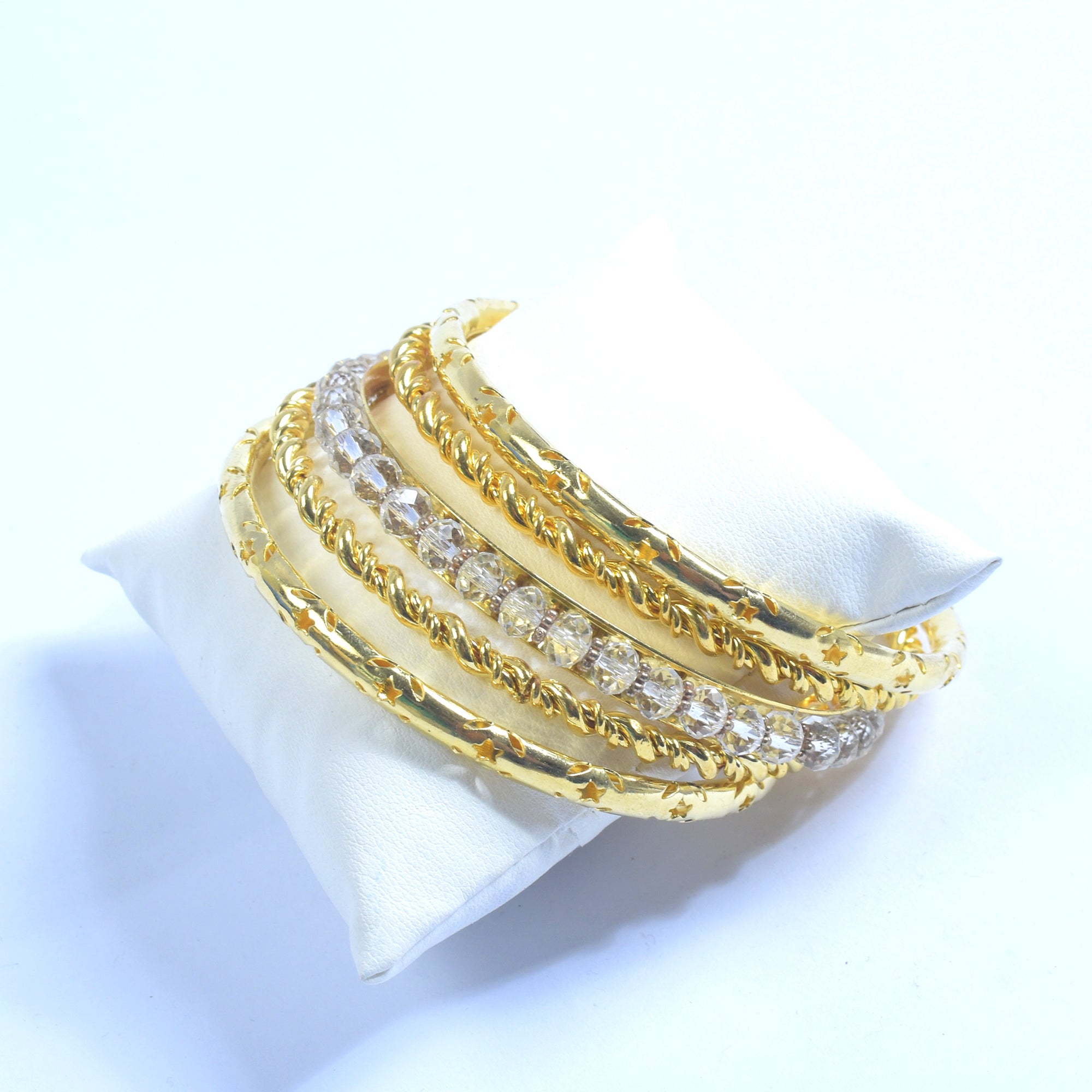 Premium Set Of Metal Golden Bangle-NA9233