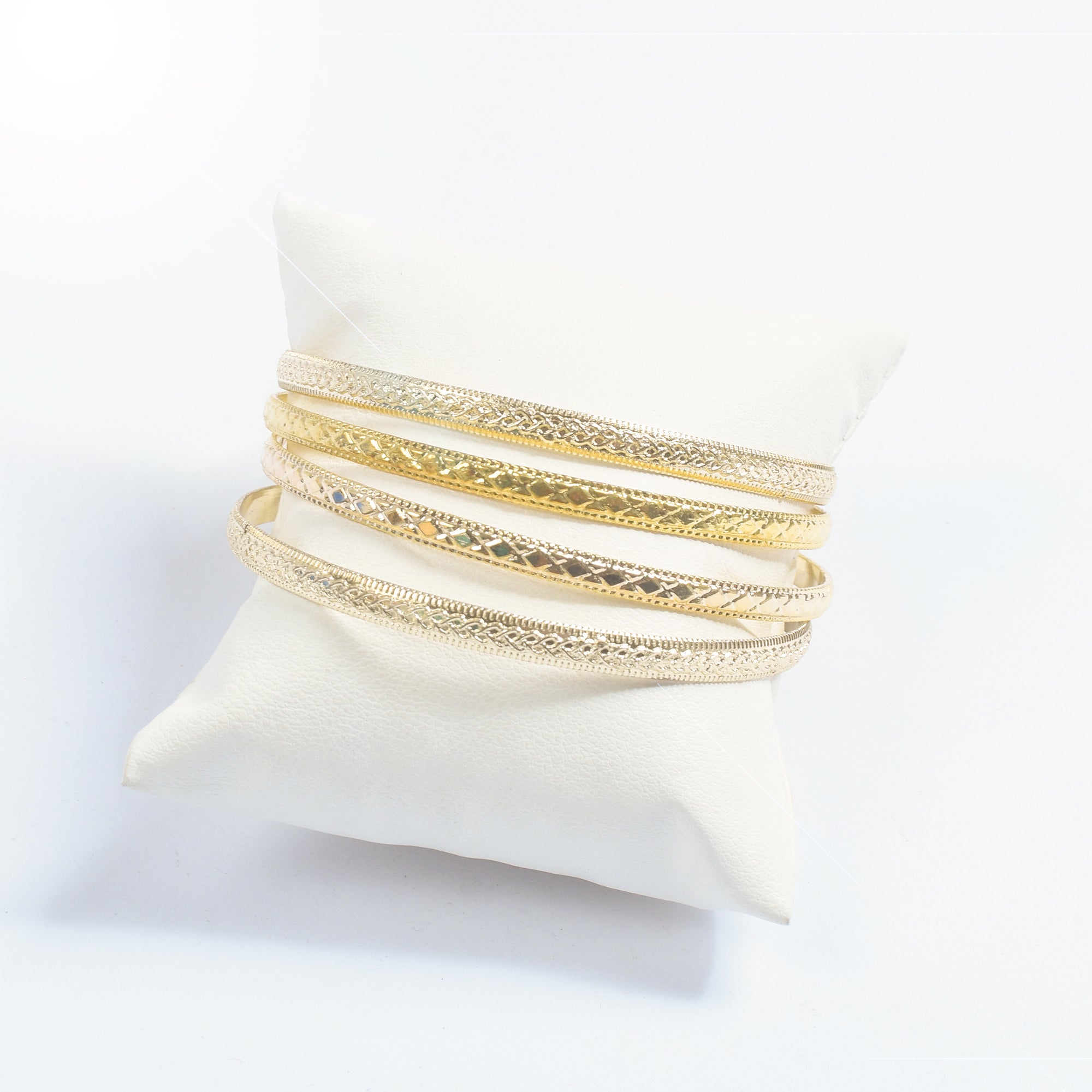 Pack Of 4 Premium Metal Golden Bangle-NA9235
