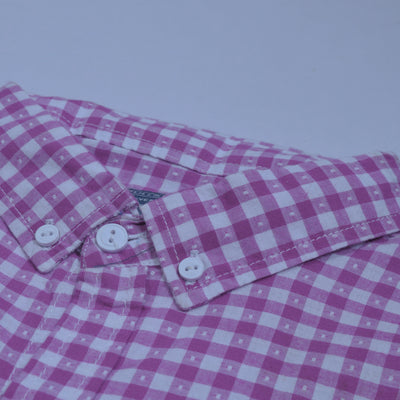brandsego - Pull&Bear Premium Slim Fit Casual Shirt For Men-Light Magenta & White-NA8983