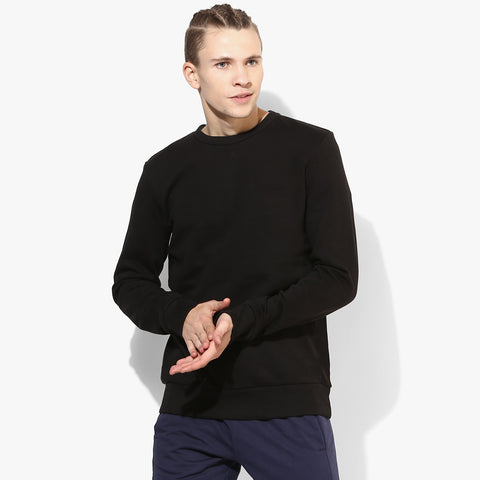 "Men's ""RTY"" Sweat Shirt-Black-RTS02"