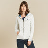 Quba Terry Fleece Zipper Hoodie For Women-Off White-NA6823