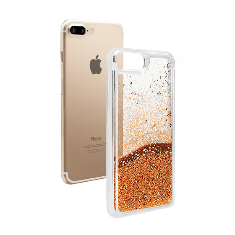 Quicksand Glitter iPhone Case For iPhone 6s Plus/7 Plus-Chrome Gold-NA7695