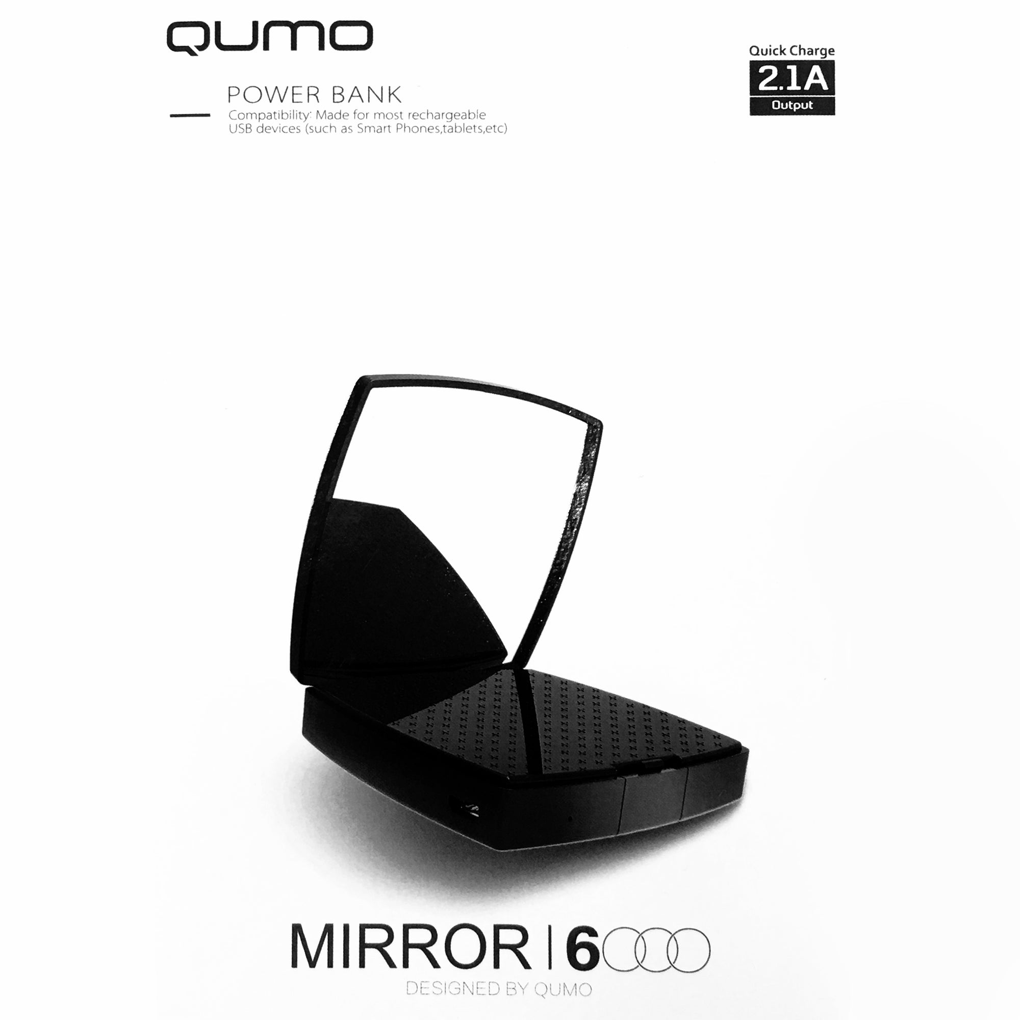 Qumo 6000mAh Power Bank + Mirror-NA9395