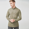 R2 Fitters Premium Slim Fit Casual Shirt For Men-Dark Wheat-RCS98