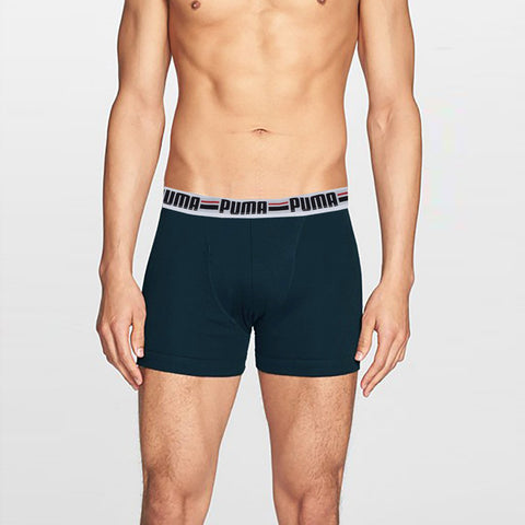 "Men's ""PUMA"" Boxer Short-Dark Jade-BE199"