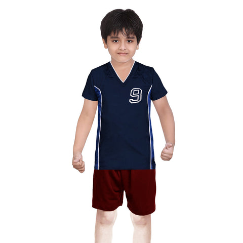 Oliver Duke Sports Suit For Kid-Navy & Red-BE2247