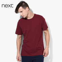Next Crew Neck T Shirt For Men Cut Label-Dark Maroon-BE2577