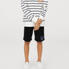 brandsego - Reebok Terry Fleece Short For Boys-Black-BE7890