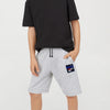 brandsego - Reebok Terry Fleece Short For Boys-Grey Melange-BE7887