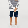 Reebok Terry Fleece Short For Boys-Prussian Blue-BE7901