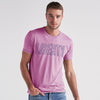 River Island Burnout Wash Short Sleeve Tee Shirt For Men-Light Pink-NA6819