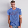 River Island Burnout Wash Short Sleeve Tee Shirt For Men-Sky Melange-NA6816