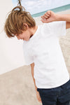 brandsego - River Island Crew Neck Jersey Tee Shirt For Kids-White-NA9073
