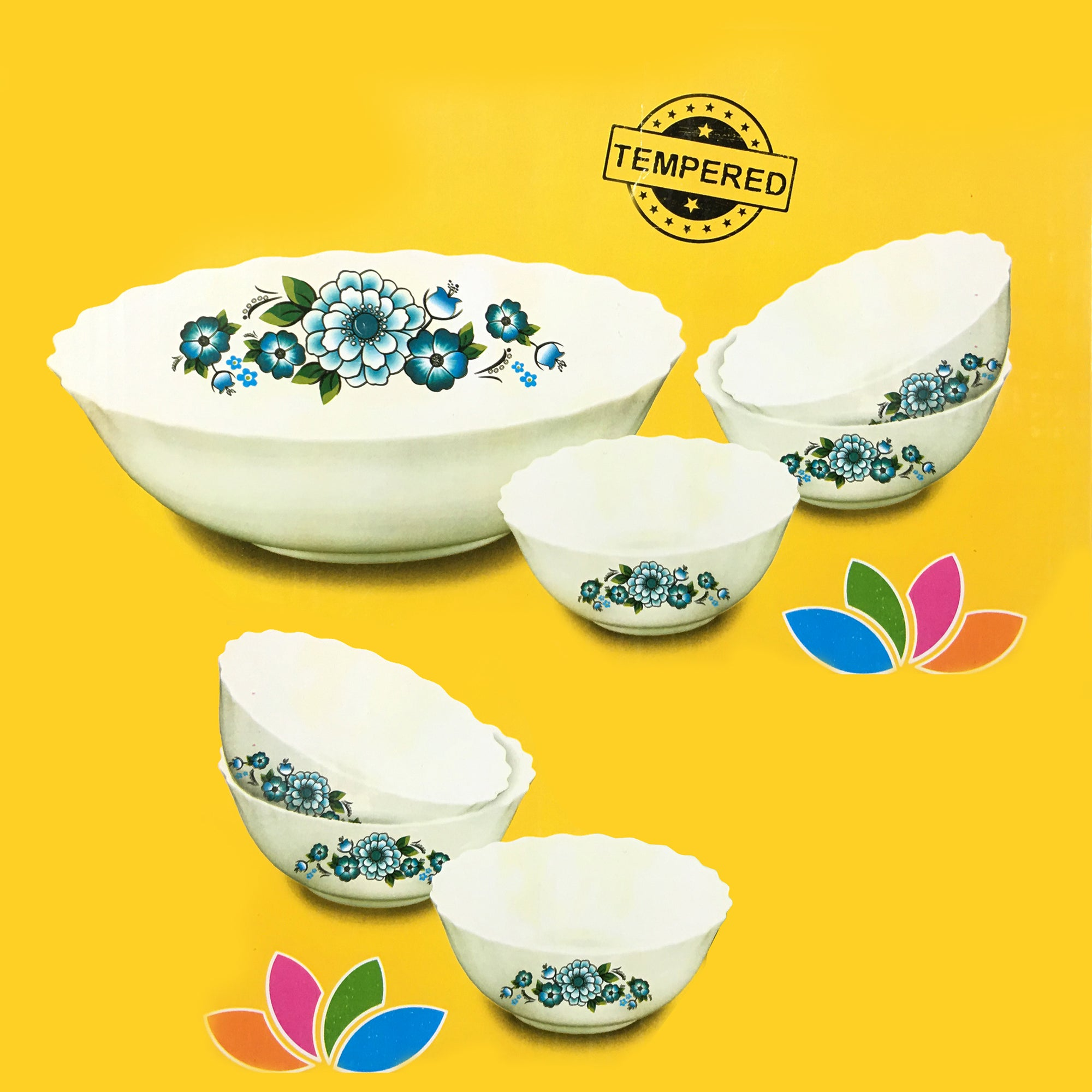 Royal Bone China Soup Serving Bowl Set for 6 Persons-NA10315