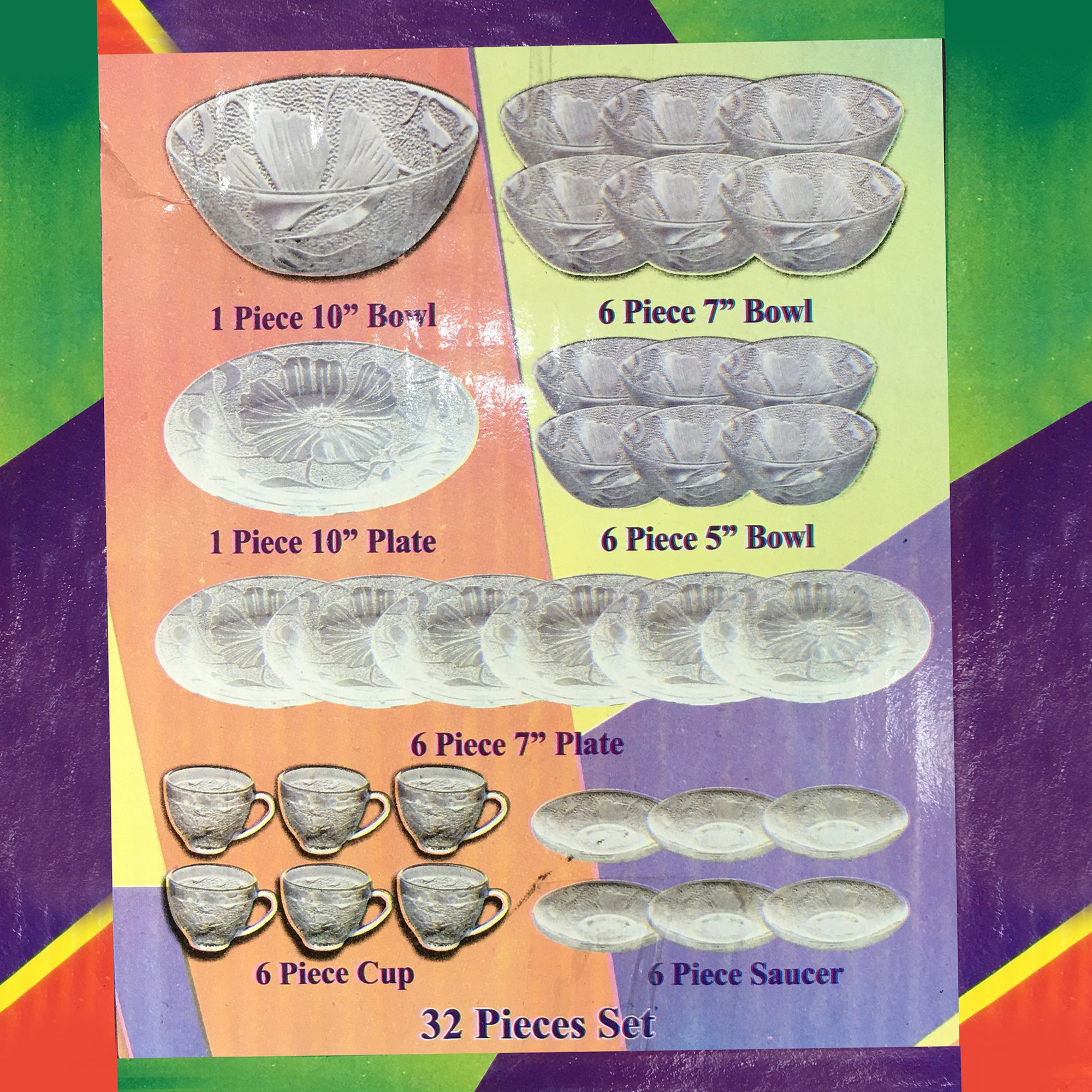 Royal Glass 32 Piece Nashta Set-NA10316