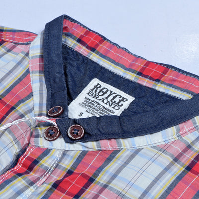Royce Premium Slim Fit Ban Casual Shirt For Men-Multi Chek-RCS62