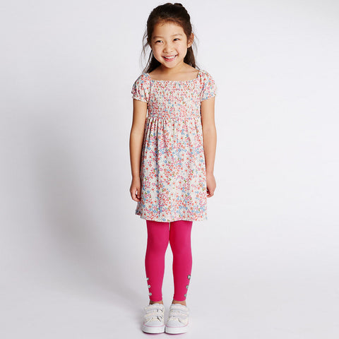 "Kid's ""Denim Stylish Tights"" Pink-(D05)"